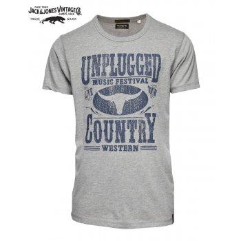 Jack & Jones Vintage T-shirt Nashville Light Grey Melange