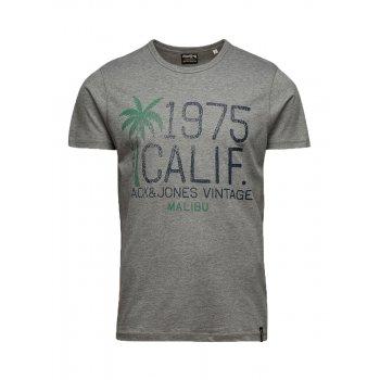 Jack & Jones Vintage T-shirt Big Wave Tee Light Grey Melange