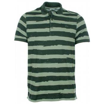Lacoste Polo Shirt Green Stripe DH2204-00