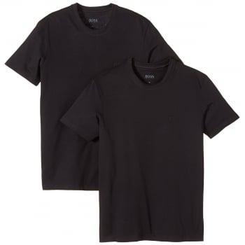Hugo Boss T-Shirt 2 Pack Crew Neck Black Boxed