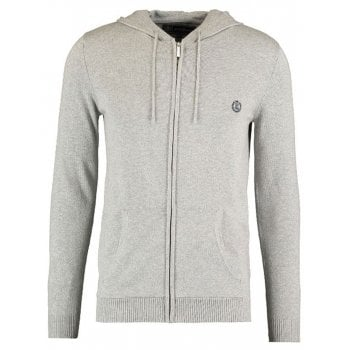 Henri Lloyd Jumper Full Zip Hooded Knit Faray Mens Grey