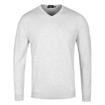 Hugo Boss Jumper Mens Pacello - L Grey V-Neck