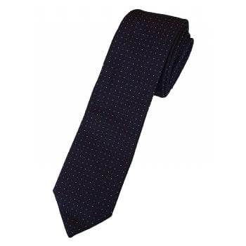 Hugo Boss Tie Mens 7.5cm 100% Silk Luxury Navy 50396994
