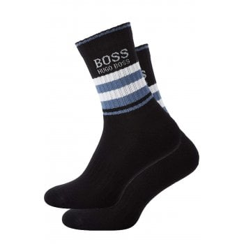 Hugo Boss Socks Mens 1 Pair Sports Crew QS Black