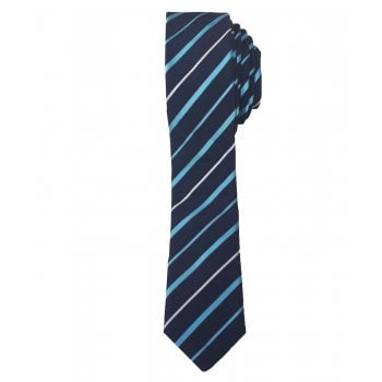 Hugo Boss Tie Mens Slim 6cm 100% Silk Blue Stripe 50386833