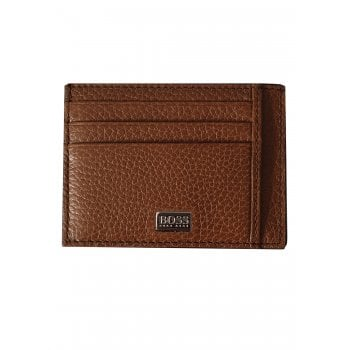 Hugo Boss Card Holder Leather Wallet Crosstown-s Brown