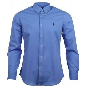 Ralph Lauren Polo Shirt IS Blue Poplin Classic Fit