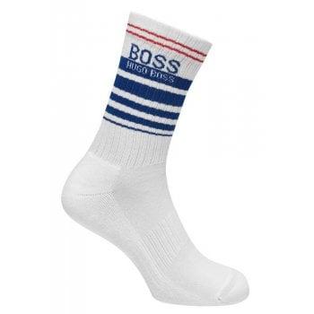 Hugo Boss Socks QS Rib Sports White Blue