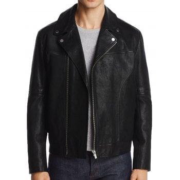 Hugo Boss Leather Jacket Lovell Biker