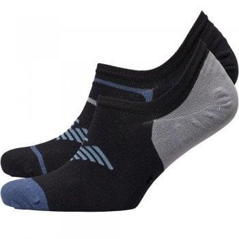 Armani Jeans Emporio Armani Invisible Sports Trainer Socks 2 Pack Big Logo