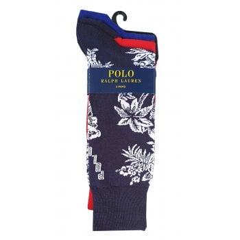 Ralph Lauren Polo Ralph Lauren Socks 3 Pack Tropical Bear