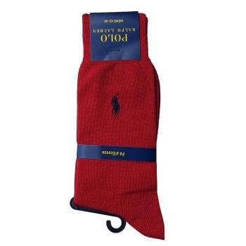 Ralph Lauren Socks Red Fil d'Ecosse