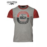 Jack & Jones Vintage T-shirt Grand Rally Light Grey Melange Mens