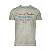 Jack & Jones Vintage T-shirt Motor Cycle Tee Faded Fog