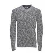 Jack & Jones Premium Pedro Shawl V-Neck Jumper Grey