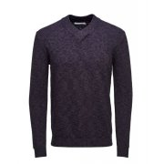 Jack & Jones Premium Pedro Shawl V-Neck Jumper Plum