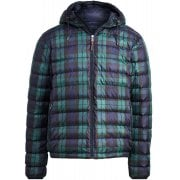 Polo Ralph Lauren Down Hooded Jacket Packable Mens Navy Check