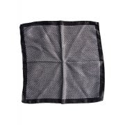Hugo Boss Pocket Square Black 100% Silk 50380661
