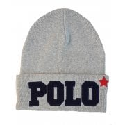 Ralph Lauren Polo Beanie Hat Mens Varsity Grey