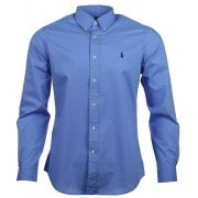 Ralph Lauren Polo Shirt IS Blue Poplin Classic Fit